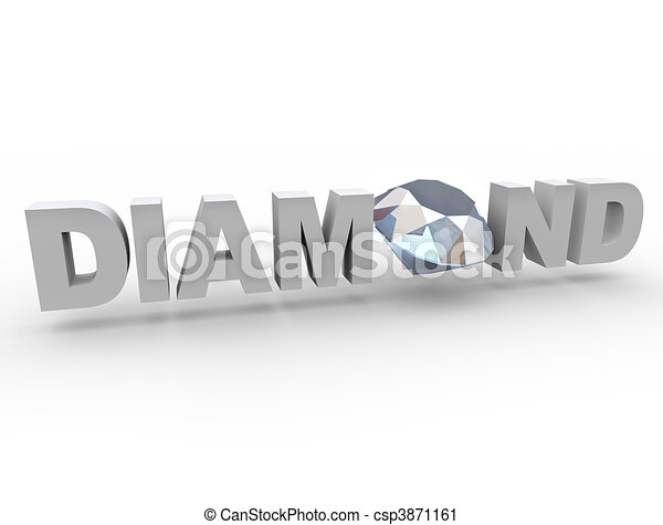 Line Drawing Diamond : Diamond gem in word. a sits the word place