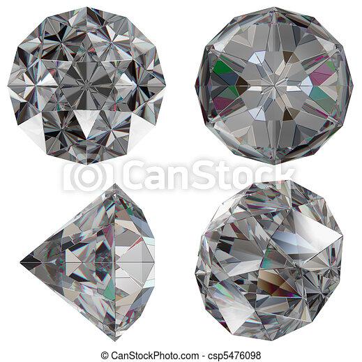 Diamond gem isolated  - csp5476098