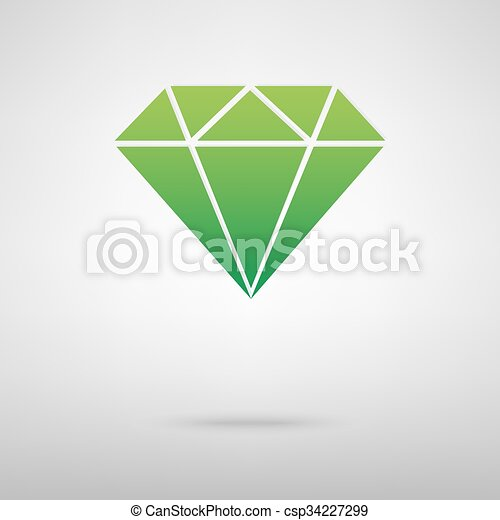 Diamond green icon - csp34227299