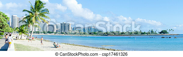 Diamond Head with Beach - csp17461326