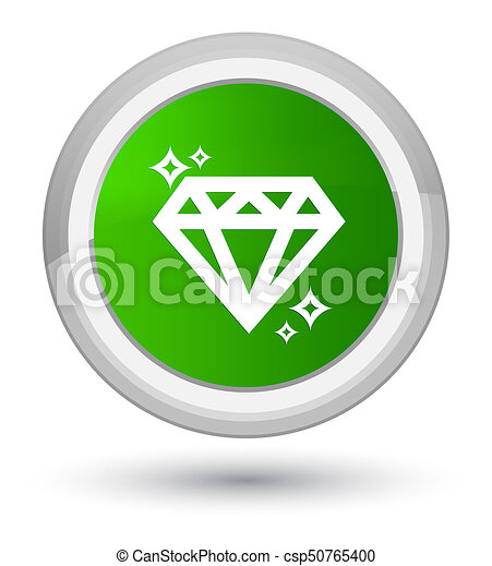 Diamond icon prime green round button - csp50765400