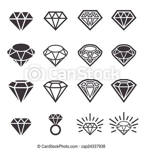 diamond icon set - csp24337938