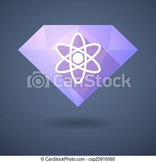 Diamond icon with an atom - csp23916560