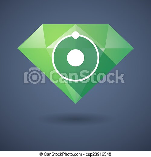 Diamond icon with an atom - csp23916548