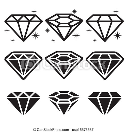 Diamond Icons Set - csp16578537