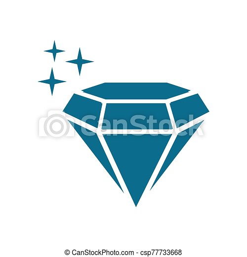 diamond - jewelry icon vector design template - csp77733668