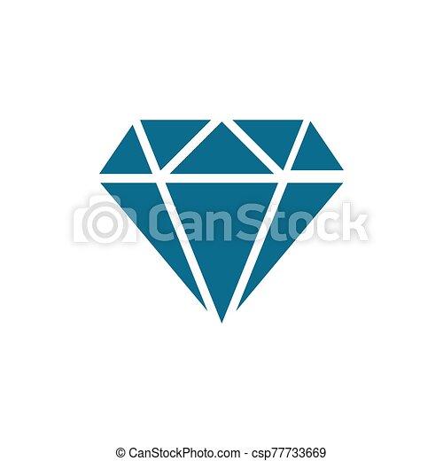 diamond - jewelry icon vector design template - csp77733669