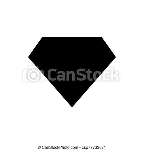 diamond - jewelry icon vector design template - csp77733671