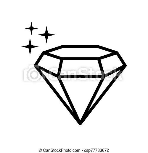 diamond - jewelry icon vector design template - csp77733672