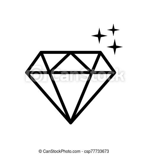 diamond - jewelry icon vector design template - csp77733673