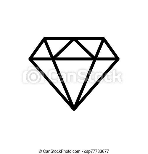 diamond - jewelry icon vector design template - csp77733677