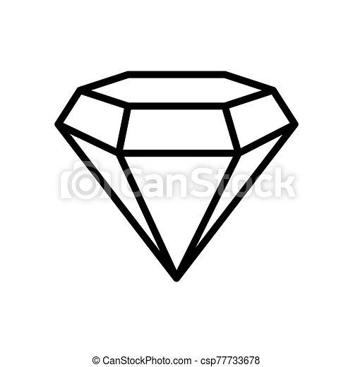 diamond - jewelry icon vector design template - csp77733678
