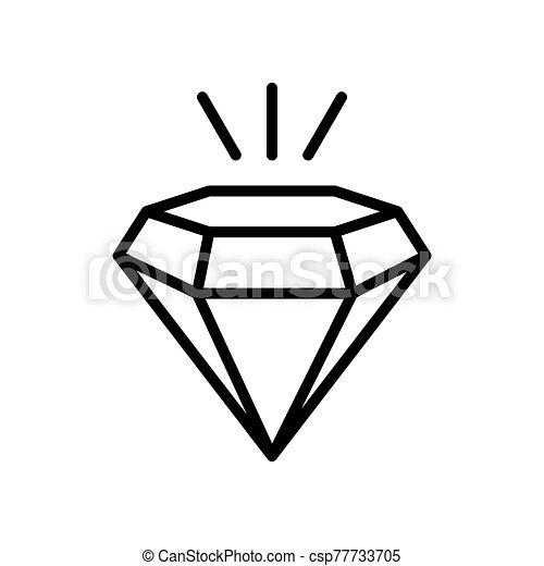 diamond - jewelry icon vector design template - csp77733705