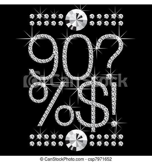 diamond letters with gemstones 00008 - csp7971652