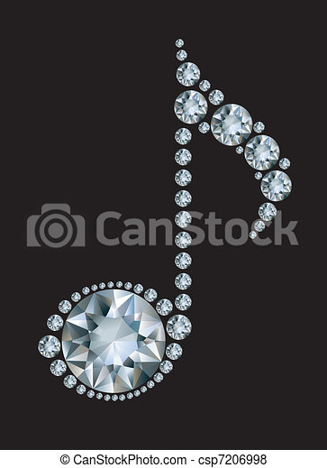 Diamond Music Note - csp7206998