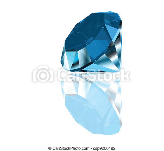 Diamond on a blue background. Vector - csp9200492