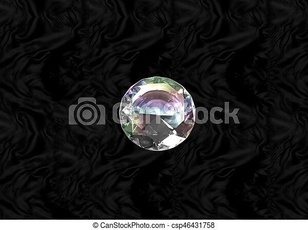 Diamond on black velvet - csp46431758