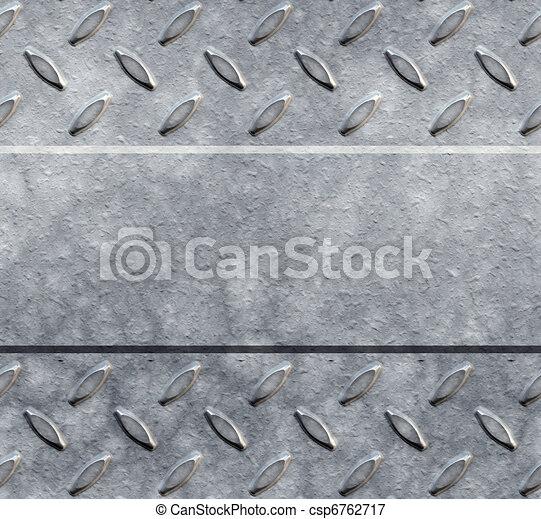 diamond plate background - csp6762717