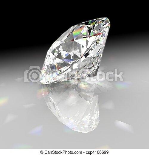 Diamond refracting light with gradient background - csp4108699