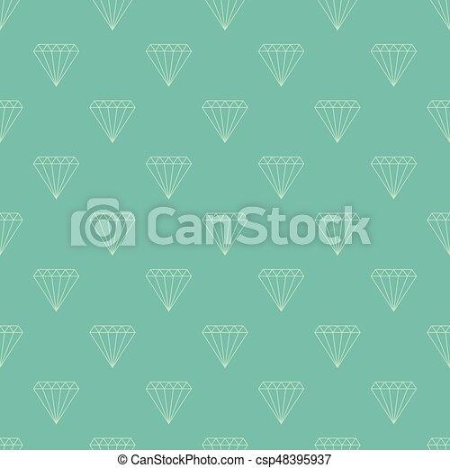 Diamond Seamless Pattern Simple Vector Background