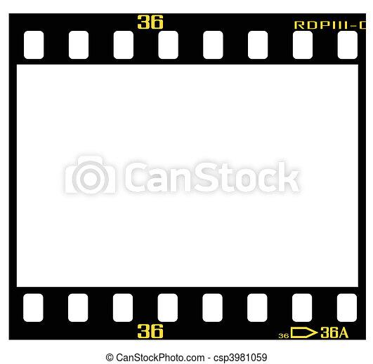 Diapositiva, marco, película. Marco, slide/positive, exacto, 35 mm ...