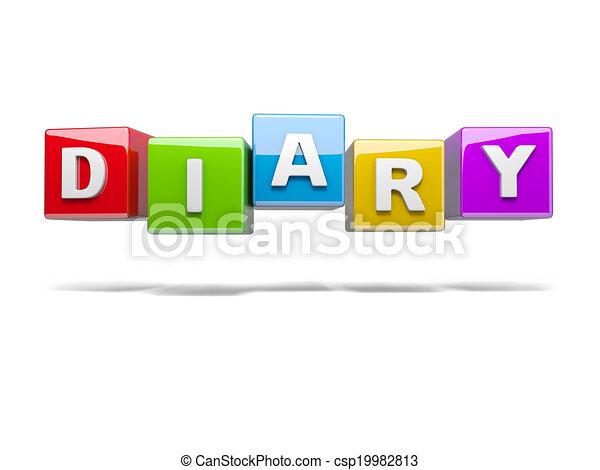 Diary - csp19982813