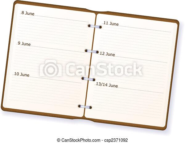 Diary - csp2371092
