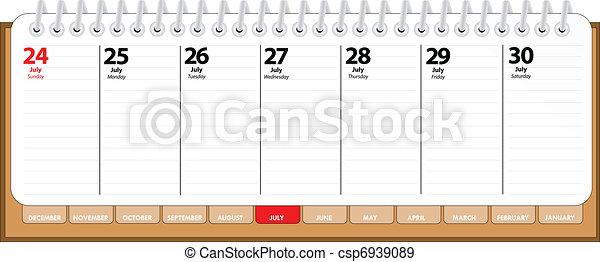 diary - july - csp6939089