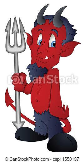 Diavolo vettore cartone animato illustrazione diavolo