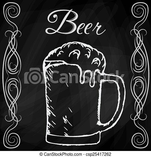 Dibujo a mano de la cerveza - csp25417262