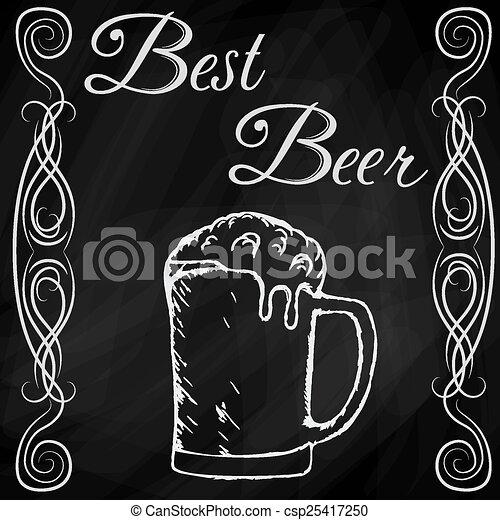 Dibujo a mano de la cerveza - csp25417250