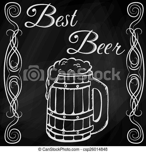 Dibujo a mano de la cerveza - csp26014848