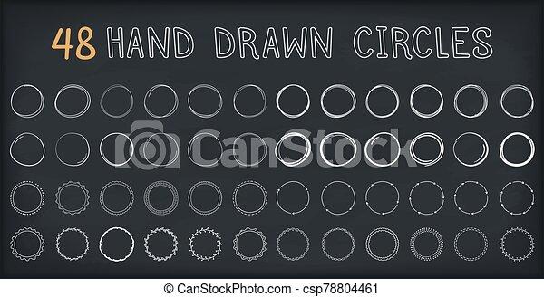 dibujado, mano, círculos - csp78804461