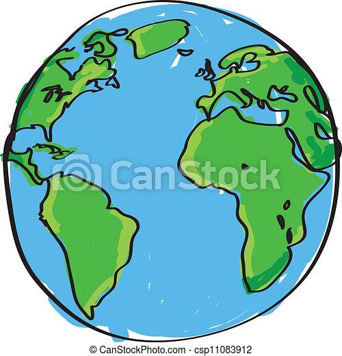 Tierra dibujada a mano - csp11083912