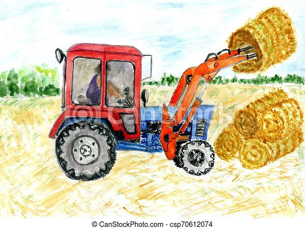 Tractor a mano - csp70612074