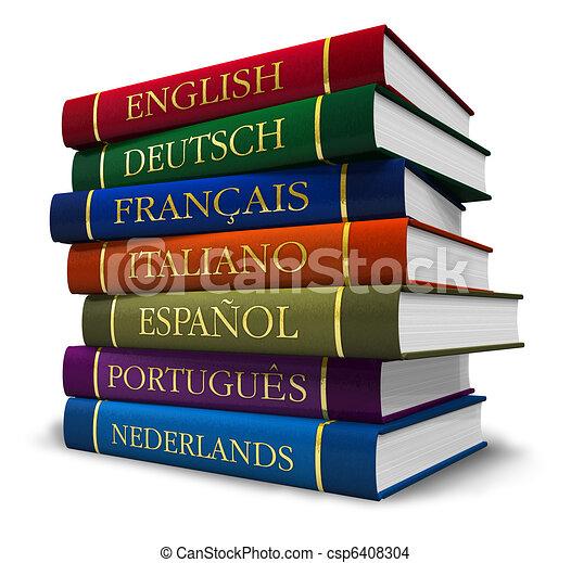 Una pila de diccionarios - csp6408304