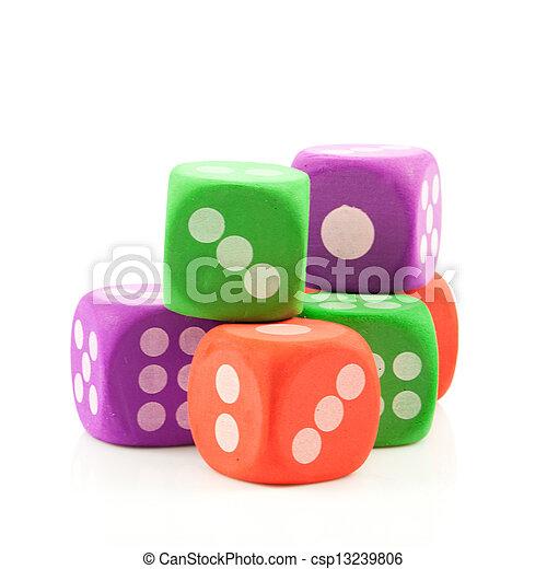 dice. - csp13239806