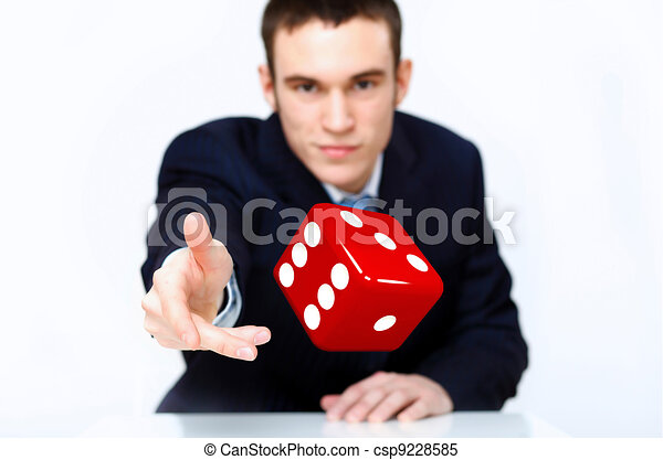 Dice as symbol of risk and luck - csp9228585
