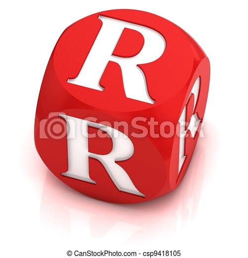 Dice font letter r 3d illustration dice font letter r csp9418105 altavistaventures Gallery