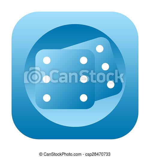 Dice icon - csp28470733