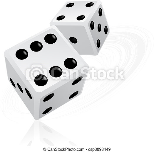 Dice illustration - csp3893449