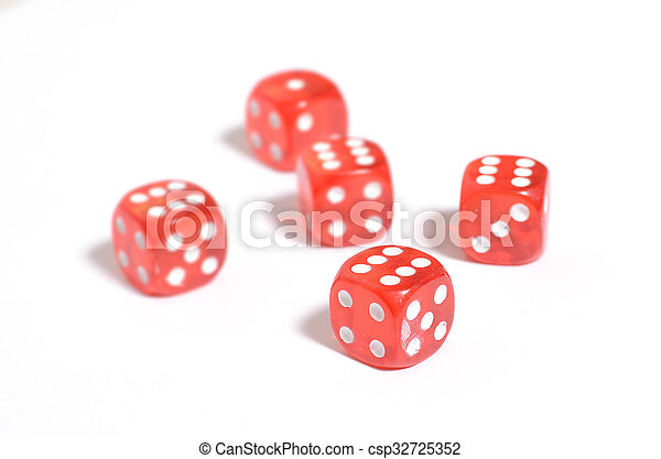 dice on the table - csp32725352