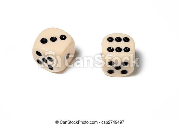dice on white - csp2749497