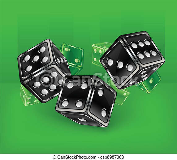 Dices on green - csp8987063