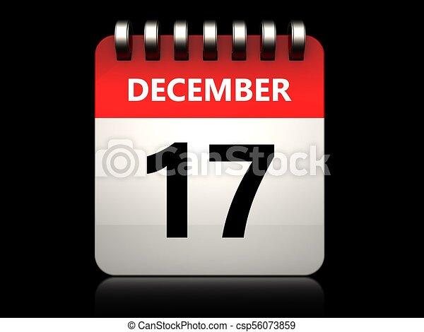 Calendario 3D 17 de diciembre - csp56073859