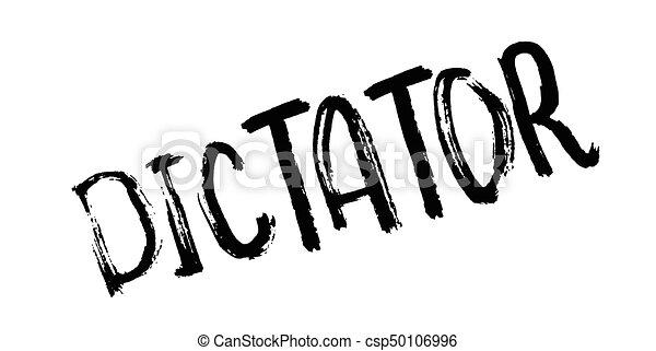 Dictator rubber stamp - csp50106996