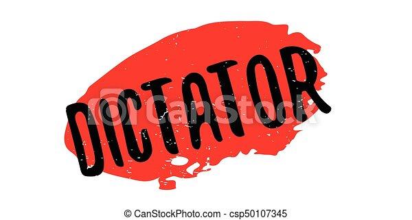 Dictator rubber stamp - csp50107345