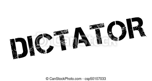 Dictator rubber stamp - csp50107033