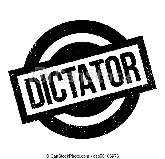 Dictator rubber stamp - csp50106976