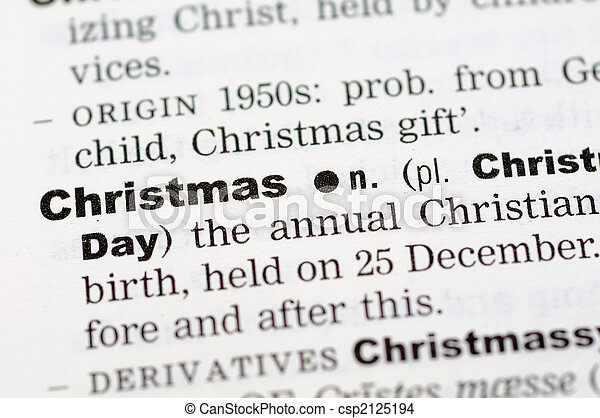 Dictionary definition of christmas - csp2125194